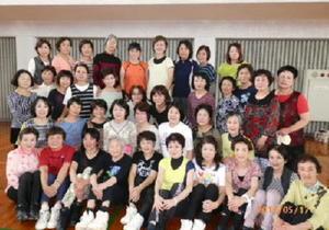 毎週水曜に鹿島市民体育館で軽やかな動きをみせているメンバーのみなさん