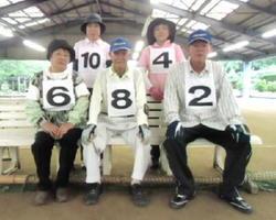 ゲートボール 温泉GB7月例会 優勝した吉田チーム