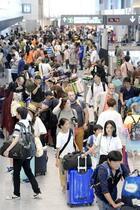 韓国からの旅行者数35%減