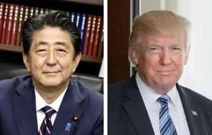 安倍晋三首相、トランプ米大統領(ゲッティ=共同)