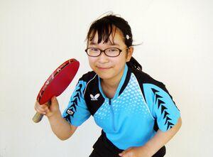 卓球でも活躍する西岡沙笑さん(撮影・5年生の川野芽依さん)