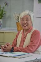 保護司としての活動が評価された松永惠子さん=伊万里市立花町の更正保護サポートセンター