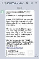 ベトナム語で災害情報配信するLINEグループの画像(提供)