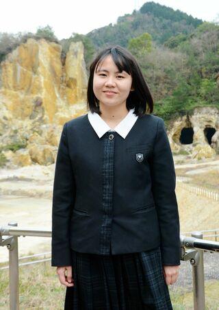 <つなぐ佐賀の聖火ランナー(26)>平和への思い胸に 山之上飛鳥さん(17歳・有田町)