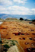 発掘当時の甕棺墓