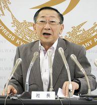 JR九州社長「知事と会談を」新幹…