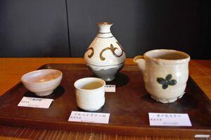 対馬の陶芸家・武末日臣さんによる酒器