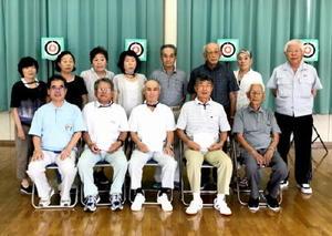 東川登公民館スポーツ吹矢教室終了大会の参加者