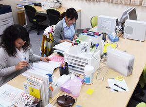 佐賀県が開設した発達障害者就労支援センター。相談員2人で対応する=佐賀市駅前中央1丁目