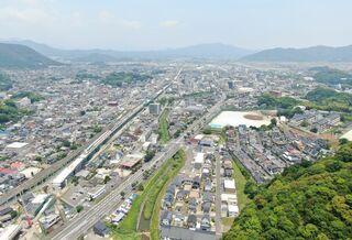 <空さんぽ 学校のある風景(28)>武雄高校周辺