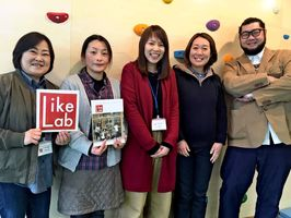 LikePot基山のスタッフと代表の田中崇さん(右端)