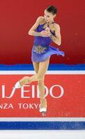 優勝したアンナ・シェルバコワのフリー=中国・重慶(共同)