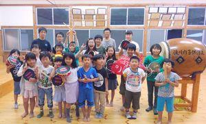 9日の本番に向け練習を重ねる子どもたち=後川内公民館