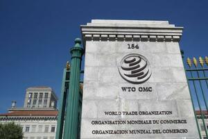 ジュネーブの世界貿易機関(WTO)本部(ロイター=共同)