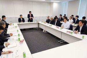 九州新幹線長崎ルートの整備方式について議論した与党検討委員会=東京・永田町の衆院第2議員会館