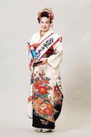 全日本きもの装いコンテストの関東女王に輝いた松田優実さん(提供写真)