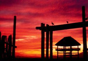 1990(平成2年)の夕焼け