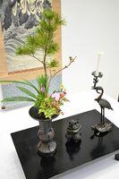 室町時代に始まった生け花の復元「三具足の花」