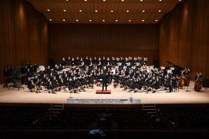 吹奏楽部門のプレ大会の様子=2018年、佐賀市文化会館