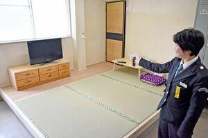 会議室を改装して新設した女性運転士専用の休憩室=鹿島市の祐徳自動車西部営業所