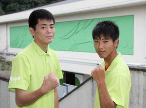 坂本隆道さん(左)と井上陸離さん