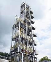 二酸化炭素分離回収装置=佐賀市高木瀬町の市清掃工場