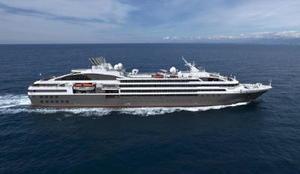 来年5月に唐津東港に寄港するフランス船籍の小型クルーズ船「ロストラル」