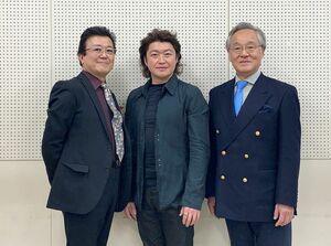 19日にコンサートを開く(左から)下村雅人さん、猪村浩之さん、牧川修一さん(提供写真)