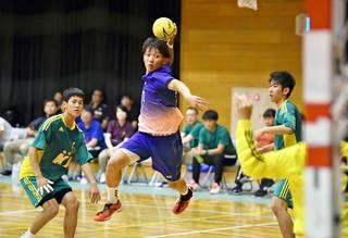 県高校総体ハンドボール 紙面ビューアに写真グラフ