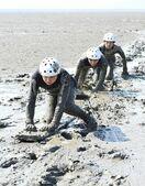 【動画】「潟スキー」使った救助手順確認 三池海保が東与賀…