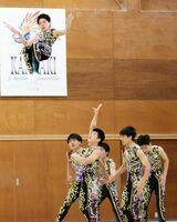 ダイナミックな組み技を見せた神埼清明高の選手たち=神埼市の同校