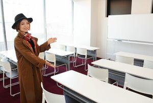 コワーキングスペース「ミーム唐津」の会議室。他に2部屋ある=唐津市京町