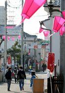 春一番、佐賀の城下町吹き抜け 3月下旬並みの暖かさ