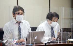 東京高裁判決後に記者会見する、スリランカ出身の男性2人の代理人弁護士ら=22日午後、東京・霞が関の司法記者クラブ