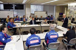 西九州自動車道ののり面崩落への対応などを協議した対策検討会=佐賀市新中町の佐賀国道事務所