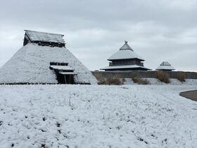 平野部でも積雪 18日、佐賀県内