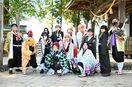 「鬼滅」と一緒に撮影を 13日、加部島にコスプレ集団