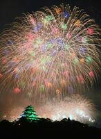 6000発の花火が唐津の夜空を彩る九州花火大会(昨年の大会から)