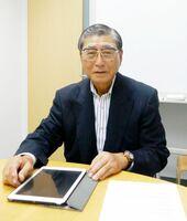 IEEEの表彰を受けた多久市出身の松瀨貢規明治大名誉教授=東京都内のオフィス