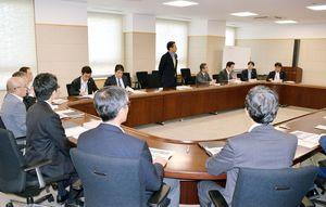 6月補正予算案を議論した政策調整会議=佐賀県庁
