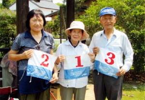 グラウンドゴルフ 第2回姉川GG愛好会大会の上位入賞者