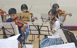 九電みらい財団が助成を決めたジュニアオーケストラ佐賀JOSAの定期演奏会の一場面