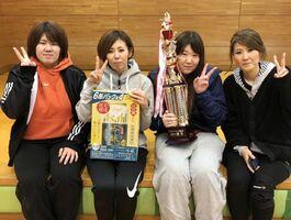 第68回ミニバレーボール交流会女子A優勝のCRUSH BANG