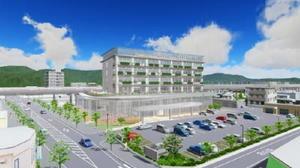 武雄市役所新庁舎の完成予想図