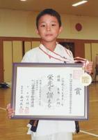 小学3年男子型で優勝した生島弘翔君