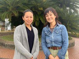 左は江島花奈さん。右は、同じく小城市に尽力してくれた佐賀災害支援プラットフォーム事務局の宮近由紀子さん