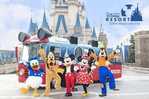 ドリームクルーザー2とディズニーのキャラクター (c)Disney