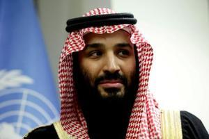 サウジアラビアのムハンマド・ビン・サルマン皇太子=3月27日、ニューヨーク(ロイター=共同)