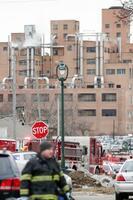 銃乱射事件現場となったミルウォーキーのビール会社「モルソン・クアーズ」=26日(AP=共同)