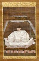 絹本著色豊臣秀吉像(名護屋城博物館所蔵、写真は県提供)
